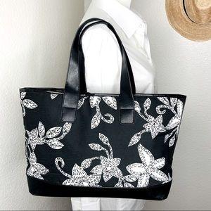 Draper's & Damon's Black/White Floral Tote